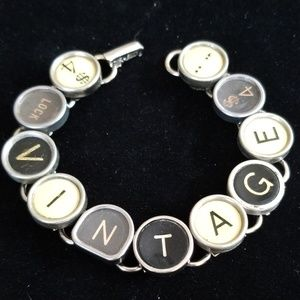 Vintage Repurposed Typewriter Key Bracelet NWT
